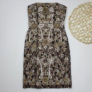 SueWong Nocturne | Black Gold Beaded Lace Dress